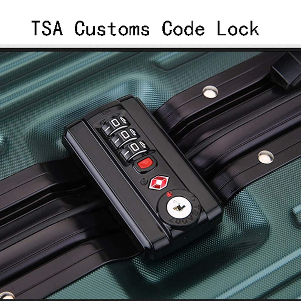 Male and Female Lightweight PC Portable Consignment Suitcase Trolley Case Lock 4 Wheels CLOUD Luggage Sets Travel Suitcase Color : Burgundy, Size : 24 inches