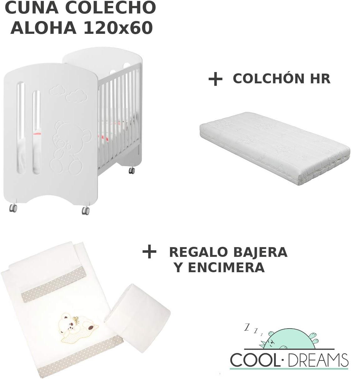 Ruedas Colch/ón HR Cuna colecho de bebe Aloha Kit colecho incluido