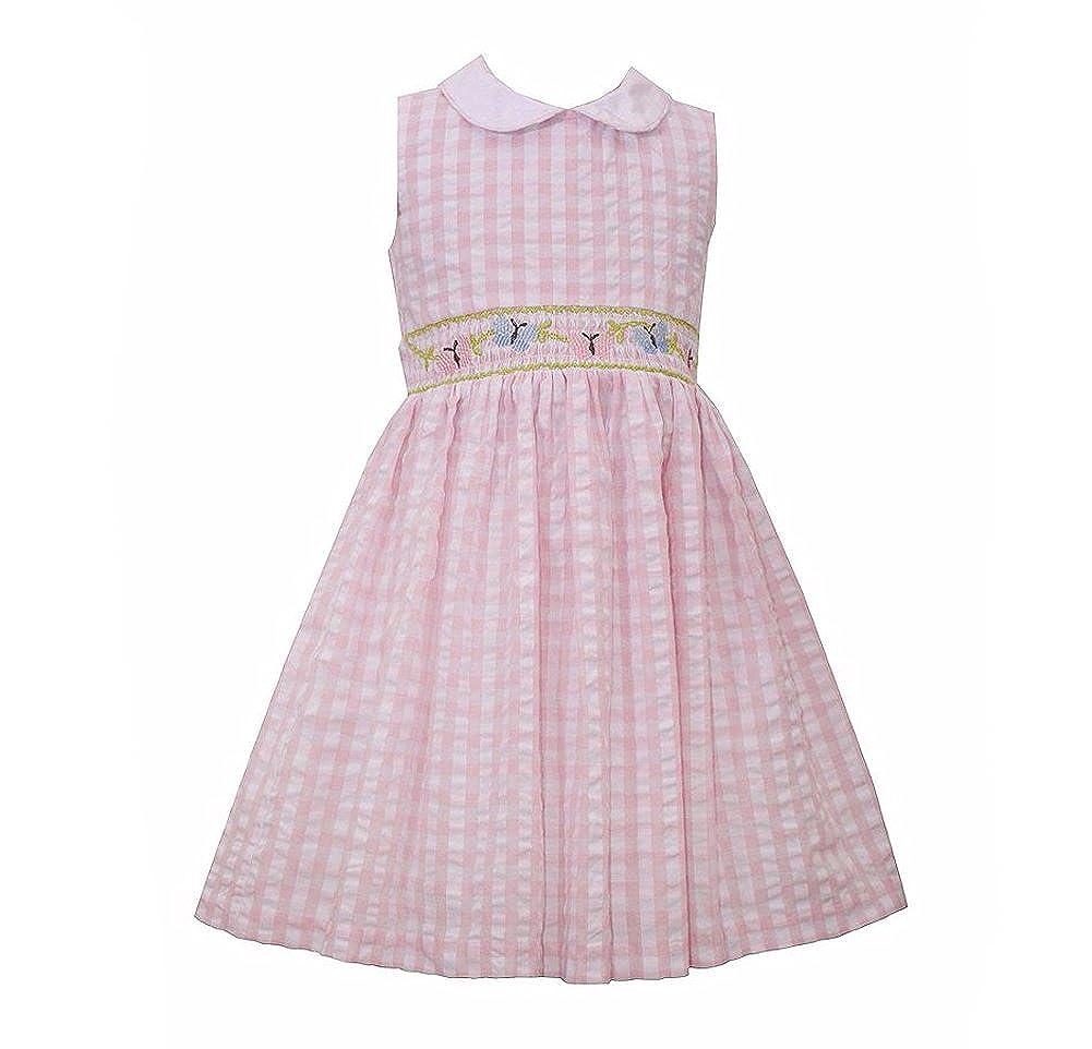 Amazon.com  Bonnie Jean Girls Seersucker Sleeveless Gingham Dress ... 0d041061d