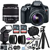 Canon EOS Rebel T6 DSLR Camera w/ EF-S 18-55mm IS II Lens & Zoom TTL Bounce & Swivel Flash, 48GB, Filter Kit, Wide Angle and Telephoto Lenses & Bundle (CERTIFIED REFURBISHED)