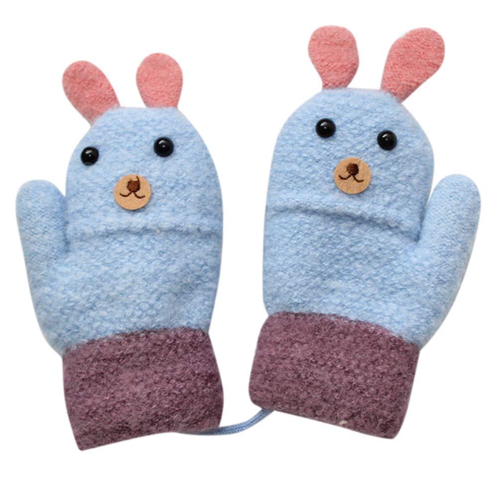 Baby Handschuhe,Transwen Kleinkind Baby Verdicken M/ädchen Jungen Seil Voller Finger warme Gestrickte Handschuhe Fausthandschuhe Niedlich Skihandschuhe