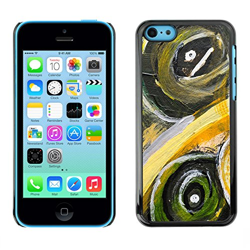 Premio Sottile Slim Cassa Custodia Case Cover Shell // V00001815 Peinture abstraite // Apple iPhone 5C