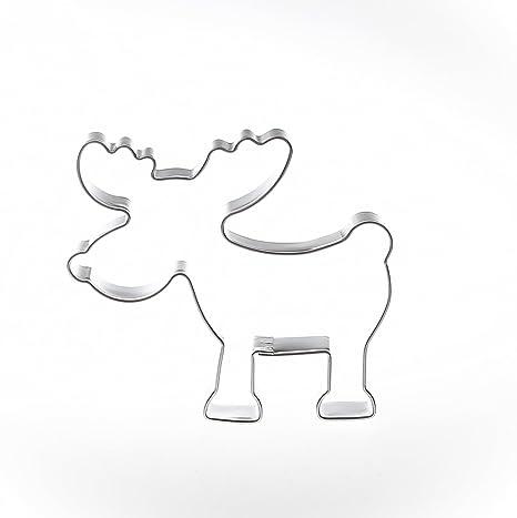 FORMINA Alce 6,3 cm Acero Inoxidable Städter – Molde para Galletas, diseño de
