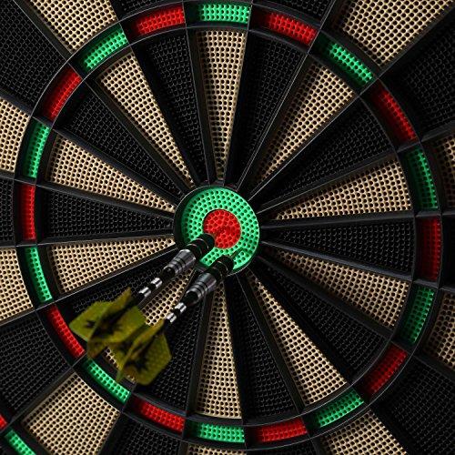 Babimax 3 Piezas Darts Punta Multicolor de Acero Lanza Duradero para la Competencia (Amarillo)