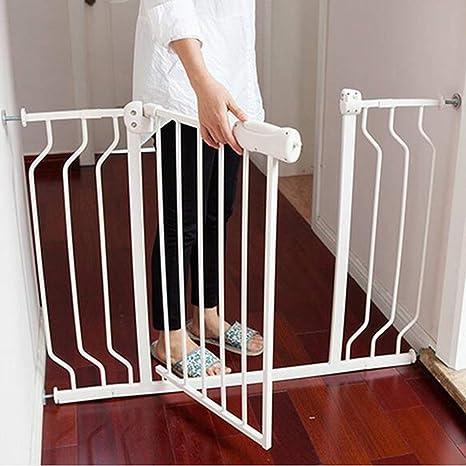 SuRose Puertas de Seguridad Presión de la Puerta del bebé Extra Ancha Montado para escaleras Pasillo Entrada Blanco Fácil Abierto 74-194cm (Tamaño: 110-122CM): Amazon.es: Deportes y aire libre