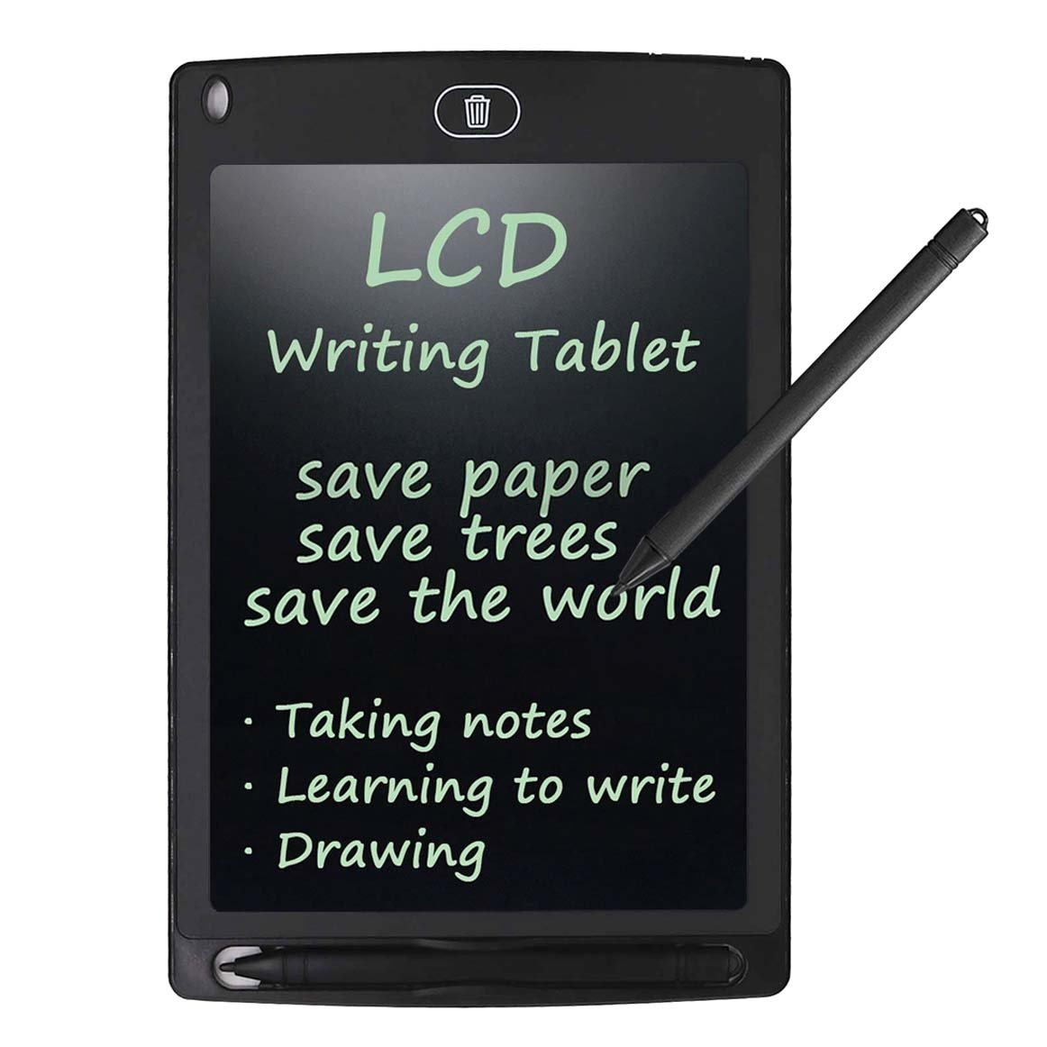 LCD Writing Tablet, Rantizon 8.5-Inch LCD Drawing Board with Stylus Electronic Writing Pad One Touch Clear Paperless Doodle Pad eWriter Graffiti Gifts for Kids and Business Office Memo Board Message Board Digital Drawing Notepad 43223-89271