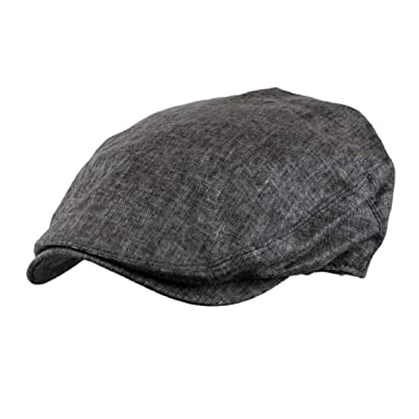 d1c5375751c Image Unavailable. Image not available for. Color  Cool Men s Linen Flat  Gatsby Newsboy Ivy Hat Spring Summer Golf ...