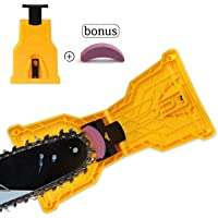 OTHERMAX Chainsaw Sharpener, Portable Chain Saw Blade Teeth Sharpener Work Sharp Fast-Sharpening Stone Grinder Tools Suitable for 14/16/18/20 Inch One/Two Holes Chain Saw Bar