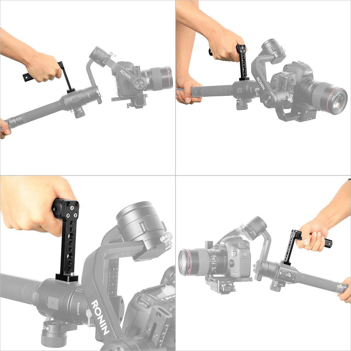 Adapter f/ür Videomonitor-Mikrofonhalterung f/ür Zhiyun Moza DJI Hand-Gimbal-Stabilisator Ronin-s Zubeh/ör Sutefoto Dual Handle Grip Transmount Kompatibel f/ür DJI Ronin-s Zhiyun Crane 2