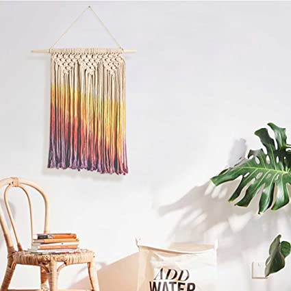 Amazon Com Colorful Macrame Wall Hanging Home Decor Handmade
