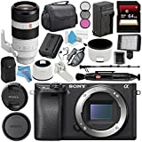 Sony Alpha a6300 Mirrorless Digital Camera (Black) ILCE6300/B + Sony FE 100-400mm f/4.5-5.6 GM OSS Lens SEL100400GM + NP-FW50 Replacement Lithium Ion Battery + External Rapid Charger Bundle