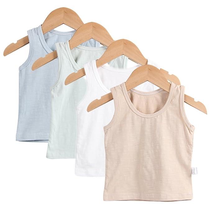 5d9f918c3 Guozyun Baby Boys Tank Tops with Sleeveless T-Shirts Undershirt Cami Shirts  for 0-