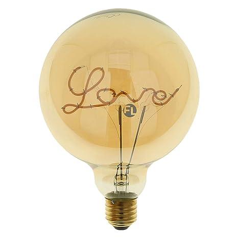 Bombilla LED Love E27 para lámparas de pie, color dorado, 5 W, 2000 K, regulable, ideal como regalo de San Valentín o de cumpleaños para mamá