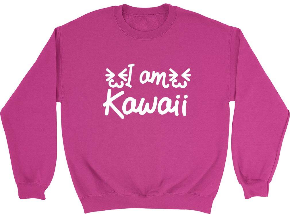 Shopagift Kids I am Kawaii Japanese Cuteness Childrens Sweatshirt