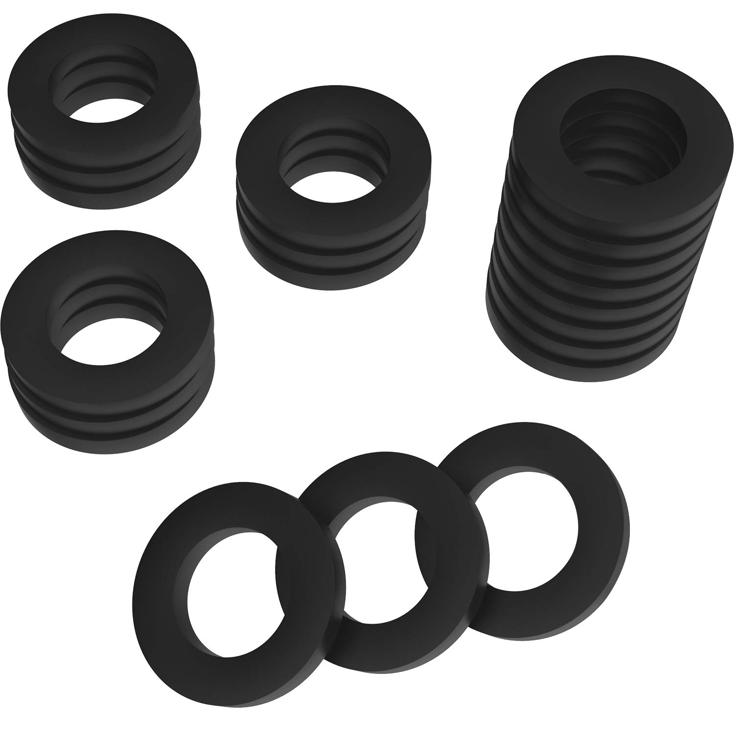 20 Pack Garden Shower Hose Washers Rubber Washers Seals for Garden Hose and Shower Hose (1 inch) Hotop