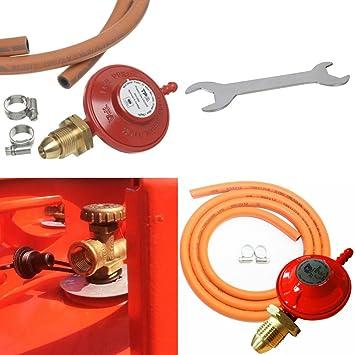 Kit de barbacoa de Kimberley Hardware con regulador de propano, manguera, llave y abrazaderas