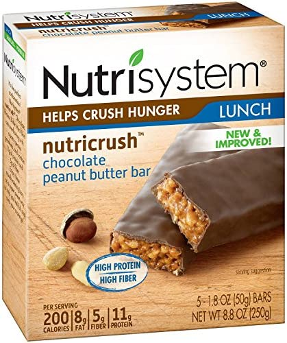 Nutrisystem Chocolate Peanutbutter Bar, 5 ct. box., 8.8 oz.