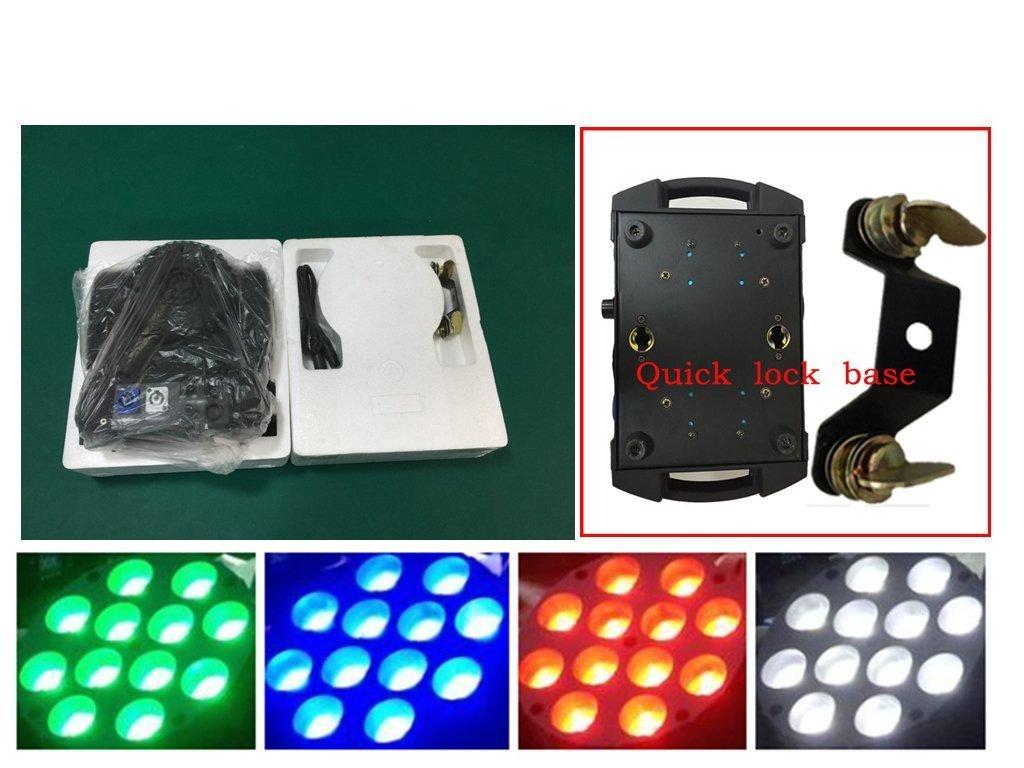 Eshine 6pcs/lot With Flight Case LED Beam Moving Head Light 12x10w RGBW 4 in 1 Super Bright LED Moving Head Light for Wedding Christmas Birthday DJ Disco KTV Bar Event Party Show
