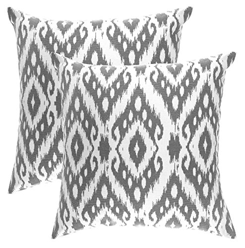 TreeWool,  Ogee Ikat Diamond Accent Throw Pillow Covers in C