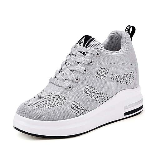 Topcloud Zapatillas de Deporte Transpirables Zapatillas de Cuña para Mujer Fitness Sneakers: Amazon.es: Zapatos y complementos