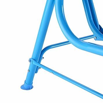 Niños columpio sillas de niños banco de porche toldo 2 persona Patio muebles azul