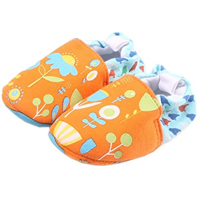 Bettyhome Cotton Unisex Baby Newborn Lovely Flower Pattern Soft Sole Infant Toddler Prewalker Sneakers (0-1 Year)