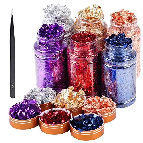 Escamas de glitter para resina (6 unidades)
