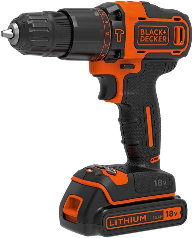 Black /& Decker BDCDC18K1BQ-QW Akku-Bohrschrauber Bohrmaschine 18V