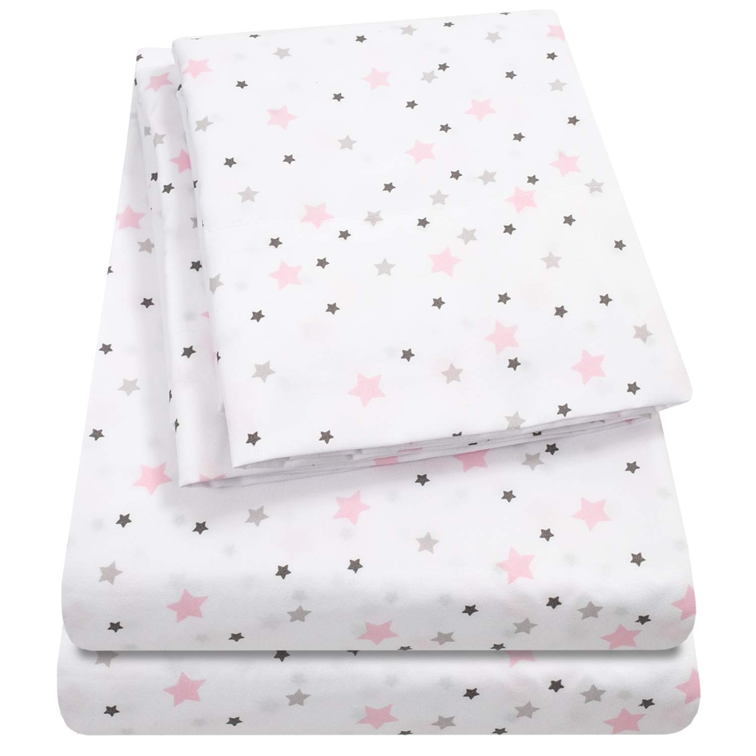 1500 Supreme Kids Bed Sheet Collection - Fun Colorful and Comfortable Boys and Girls Toddler Sheet Sets - Deep Pocket Wrinkle Free Hypoallergenic Soft and Cozy Bedding - Twin, Stars