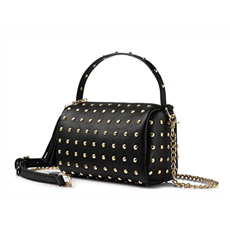 e8b86c1ed62b6 Image Unavailable. Image not available for. Color  Crossbody Bag Chain Shoulder  Bag For Women Small Handbag Purse With Rivets Female ...
