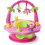 Summer Infant 3-Stage Super Seat Island Giggles - Asiento elevador con actividades, color rosa