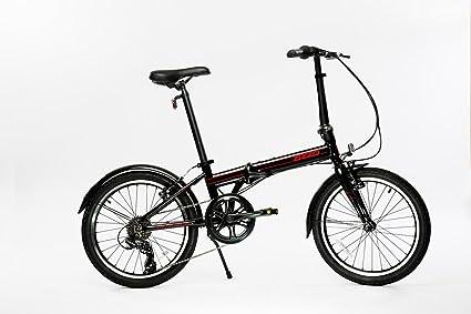 Sky Blue EuroMini Via 26lb Folding Bike-Lightweight Aluminum Frame Genuine Shimano 7-speed 20 Folding bike with Fenders