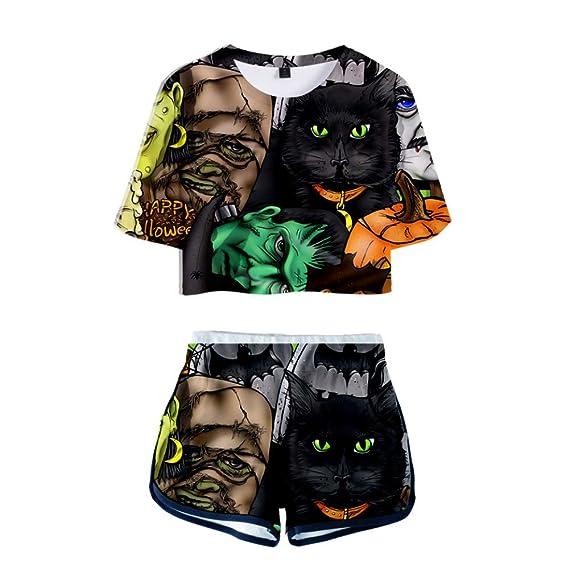 INSTO Camiseta Pantalones Cortos 2 Piezas Conjunto Creativo ...