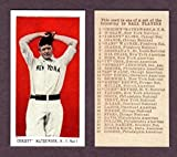 Christy Mathewson 1910 E-98 Red Black Swamp Find Baseball Reprint Card (Tough to Find) (Comes in its own case) (Giants)