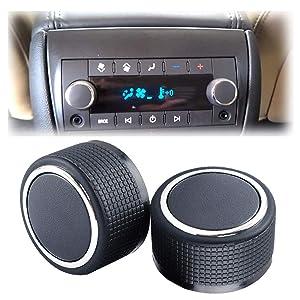 Gekufa Rear Radio Knobs Compatible with 2007-2013 Chevy Tahoe Chevrolet Silverado GMC Acadia Sierra Escalade Buick Enclave Yukon Cadillac-Radio Audio Volume Control Knob Replacements GM 22912547