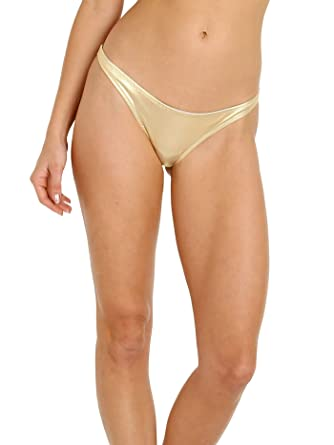 a8f6a8fdff Image Unavailable. Image not available for. Color: Solid & Striped The  Rachel Bikini Bottom Metallic Gold