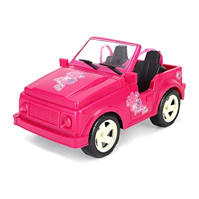Liberty Imports Pink Convertible Car Cruiser Sport Utility Vehicle Toy for Dolls (Compatible with Barbie): Toys & Games