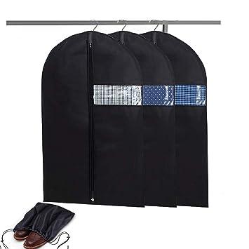 4f90b41622 Amazon|洋服カバー スーツカバー 3枚セット スーツ・ドレス 収納カバー ...