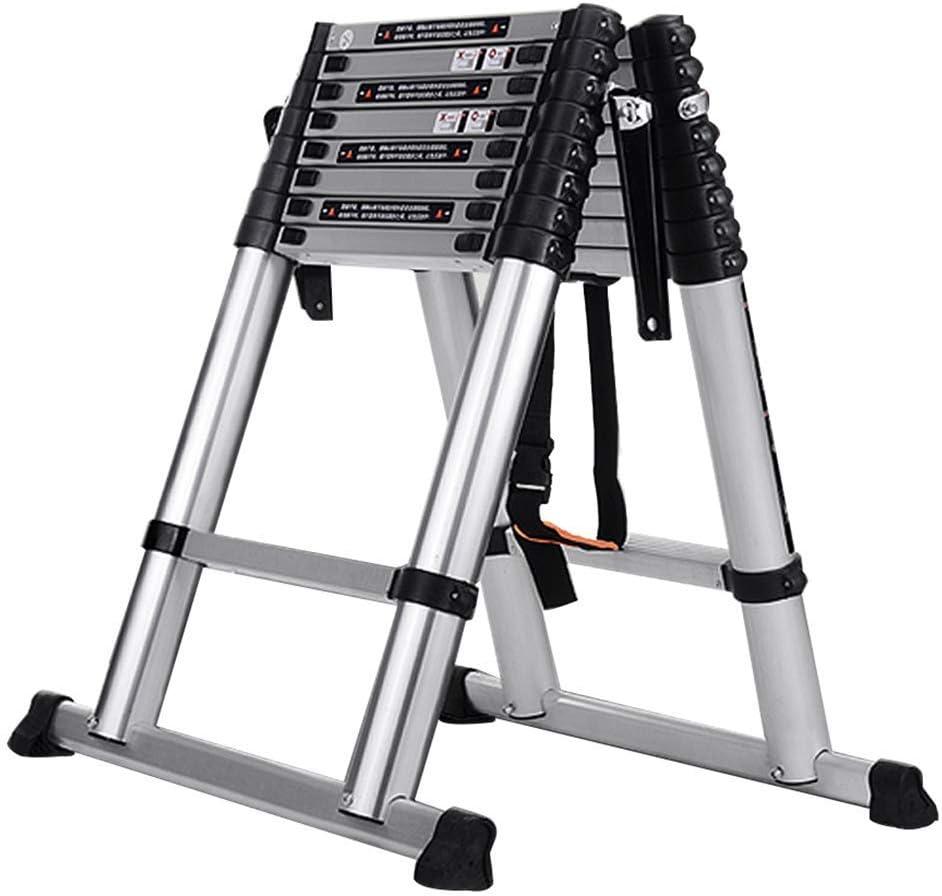 Taburete para Adultos Escalera Plegable de Aleación de Aluminio Gruesa Multifunción de Extensión / 1.9+1.9m=3.8m straight ladder: Amazon.es: Bricolaje y herramientas