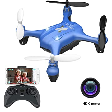 2019 Update Mini Drones with Camera for Kids/Beginners, FPV Drone WiFi Real-time Video Feed, One Key Take Off/Landing, APP Control Quadcopter, RC Helicopter Easy Fly is a Funny Gift for him(AT-96)