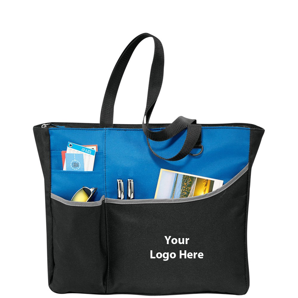 Metropolis Zippered Meeting Tote - 96 Quantity - $6.80 Each - PROMOTIONAL PRODUCT / BULK / BRANDED with YOUR LOGO / CUSTOMIZED