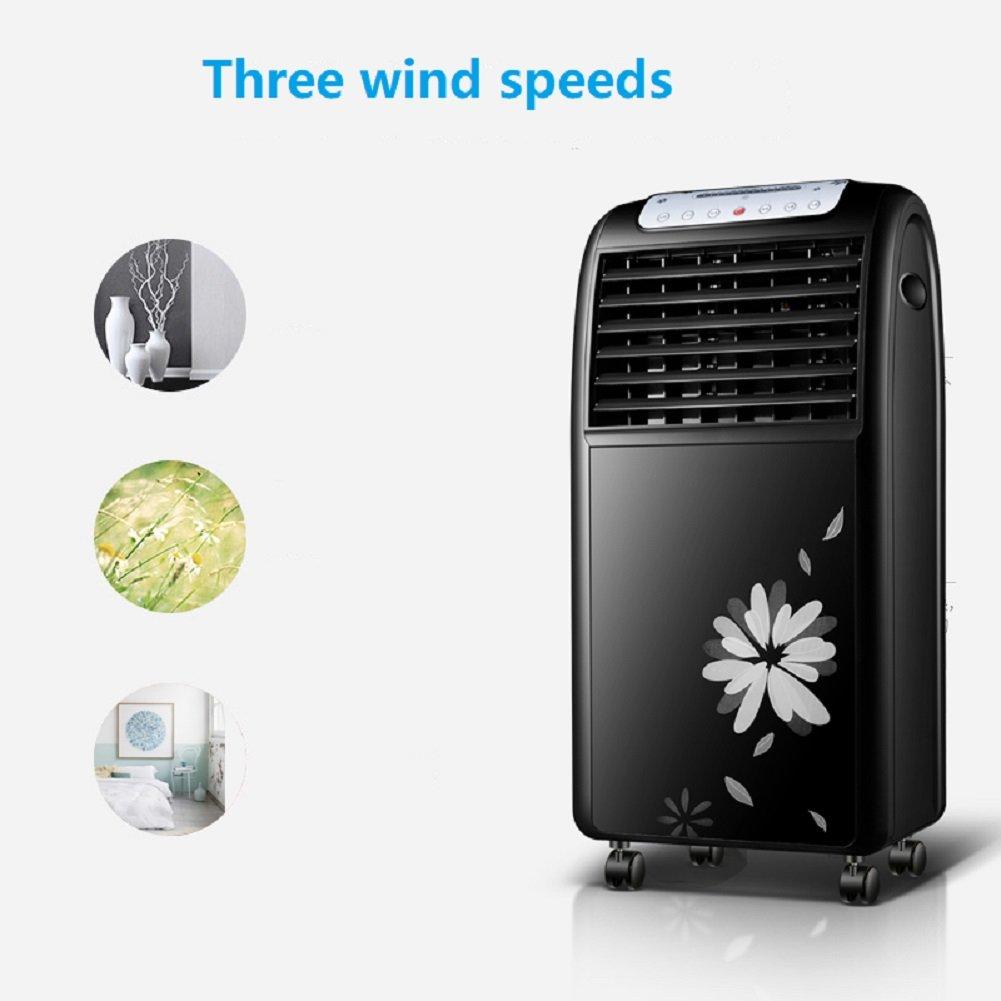 Summer home Mini Portable Air Conditioner Fan, 4 Ruedas con Control Remoto con deshumidificador y Ventilador para Oficina, Dormitorio, ...