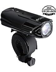 AMANKA Luces Bicicleta Recargable LED Luz para Bicicleta por USB con Pantalla de Visualizaci/ón de Potencia Conjunto,LED Linterna Bicicleta Impermeable para Bicicleta Carretera y Monta/ña