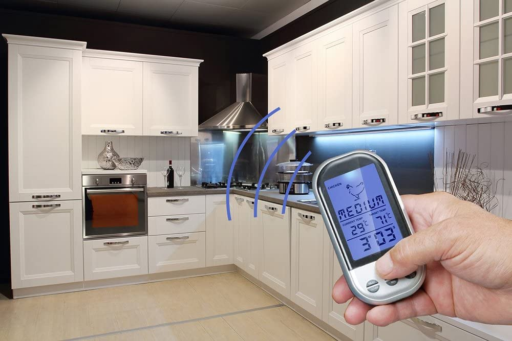BBQ Household Thermometers Wireless Digital Oven And Grill Meat Cooking Remote Kitchen Thermometer And Timer With Long Probe