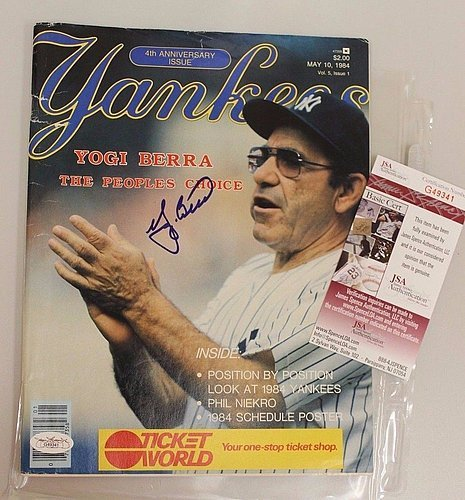 Yogi Berra Hand Signed - 7