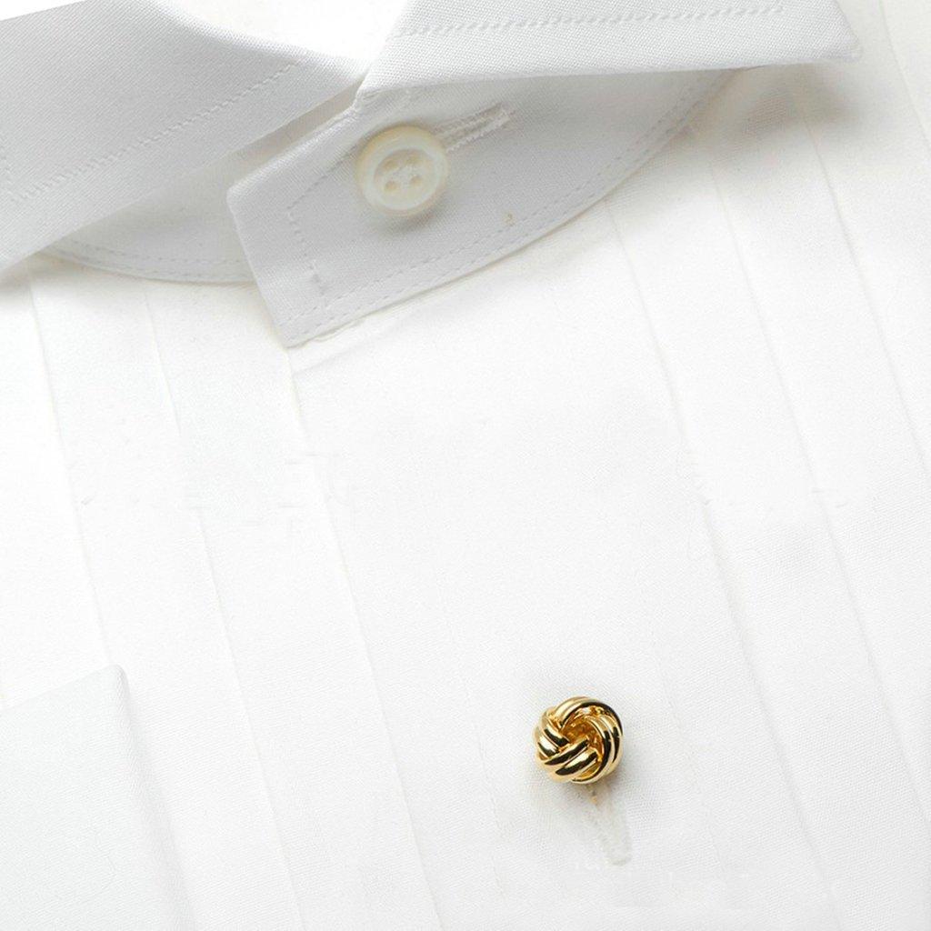 Adisaer 6 PCS Herren Manschettenkn/öpfe Edelstahl Knoten Gold Hemd Manschetten Kn/öpfe Manschettenkn/öpfe und Studs Set
