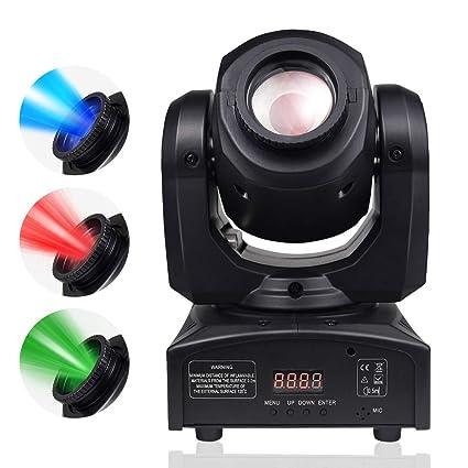 BETOPPER DJ Moving Head LEDs Light Spot Stage Lighting 8 Colors Light 10W with 9/  sc 1 st  Amazon.com & Amazon.com: BETOPPER DJ Moving Head LEDs Light Spot Stage Lighting 8 ...
