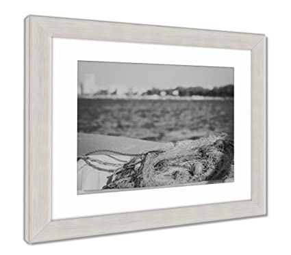Amazon.com: Ashley Framed Prints Fishing Net in Cyprus Blue Net with ...