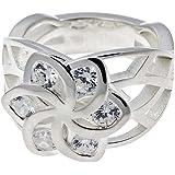 Herr der Ringe - Nenya Flowers Ring Galadriel Blumen Ring 925er Silber, Kristall