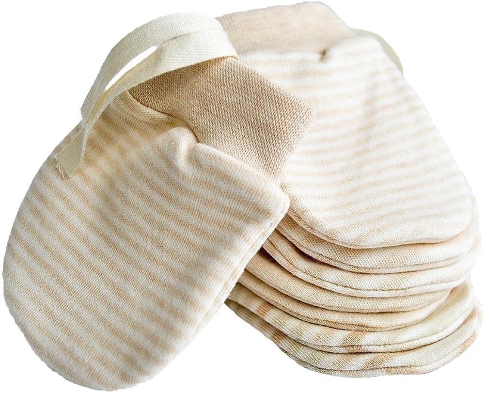 4Pcs Unisex Infant Anti Scratch Mittens Gloves Baby New Born Cotton Handguard